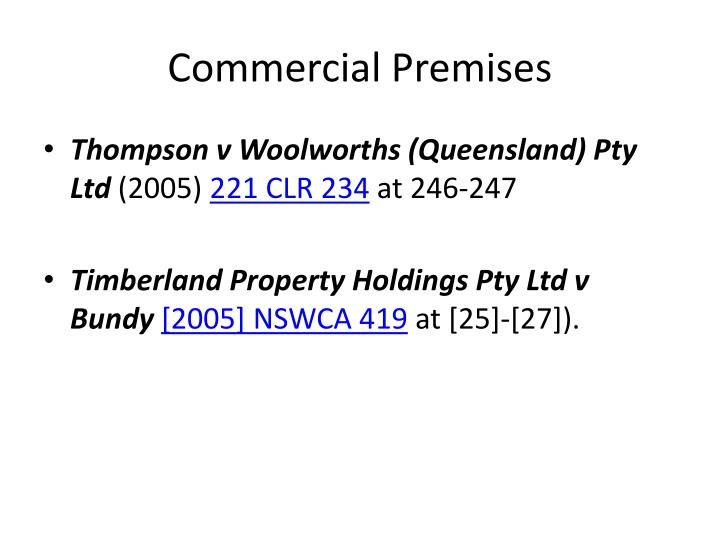 Commercial Premises