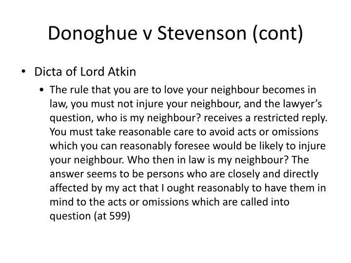Donoghue v Stevenson (