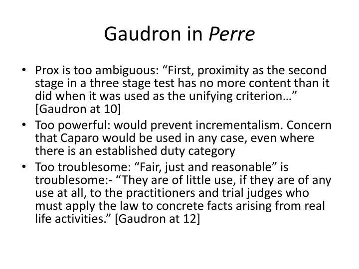 Gaudron