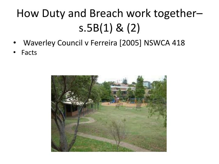 How Duty and Breach work together