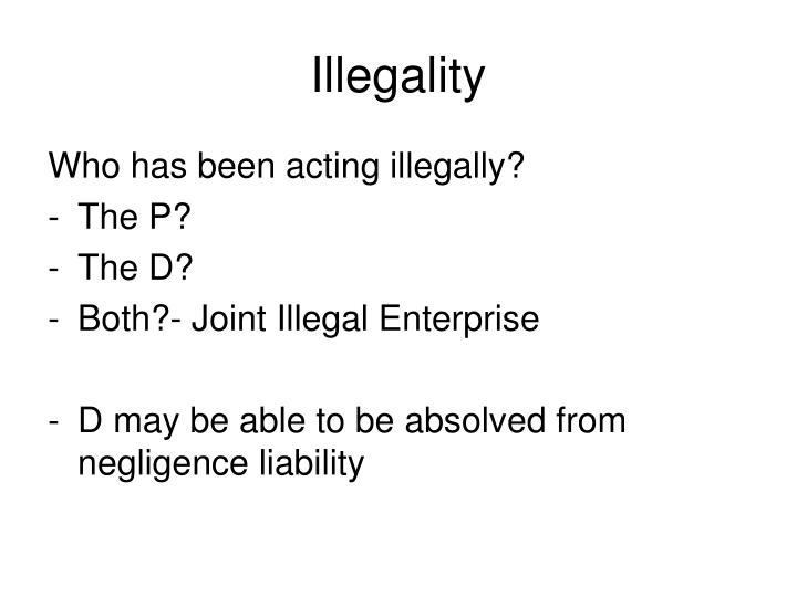Illegality