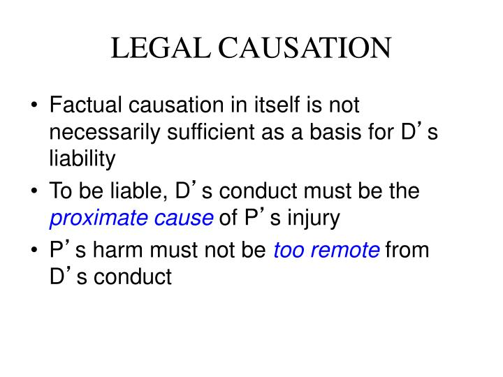 LEGAL CAUSATION