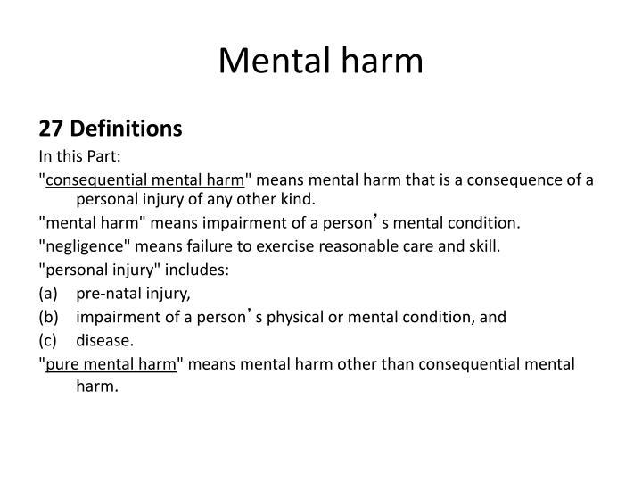 Mental harm
