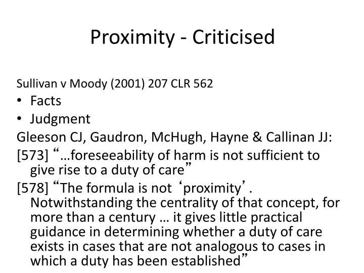 Proximity - Criticised