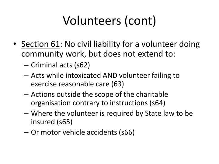 Volunteers (