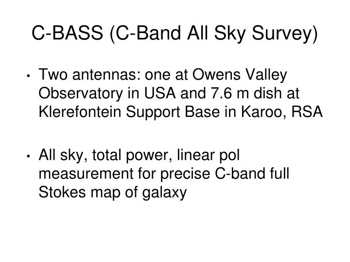 C-BASS (C-Band All Sky Survey)