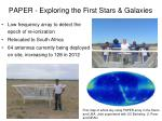 paper exploring the first stars galaxies