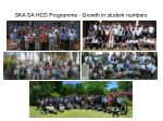 ska sa hcd programme growth in student numbers