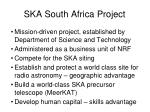 ska south africa project