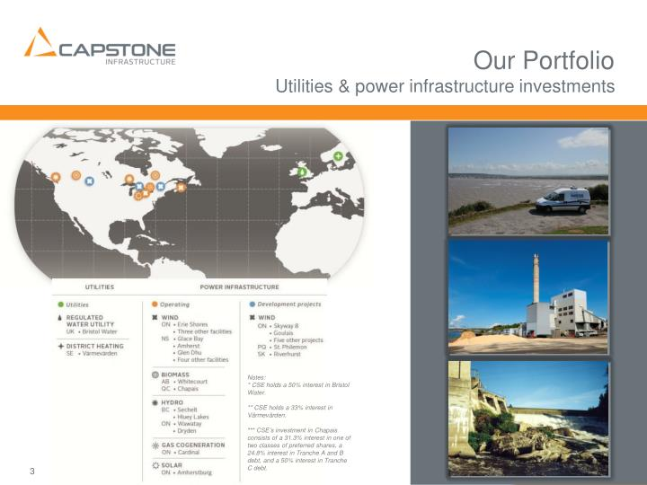 Our portfolio utilities power infrastructure investments