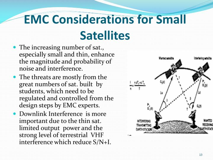 EMC Considerations for Small Satellites
