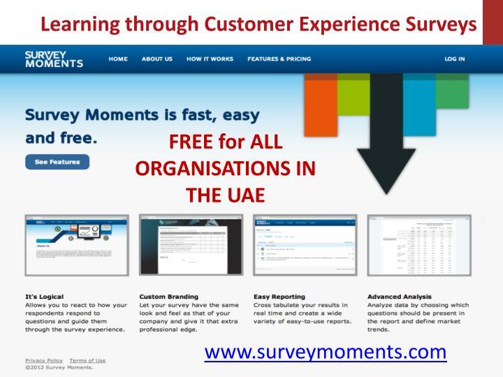 Learning through Customer Experience Surveys