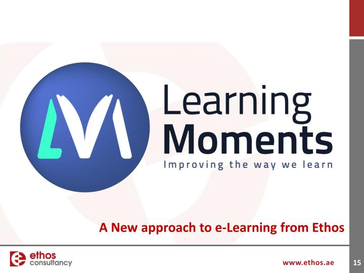 A New approach to e-Learning from Ethos