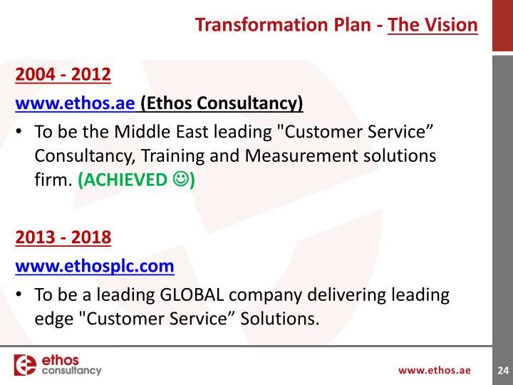 Transformation Plan -