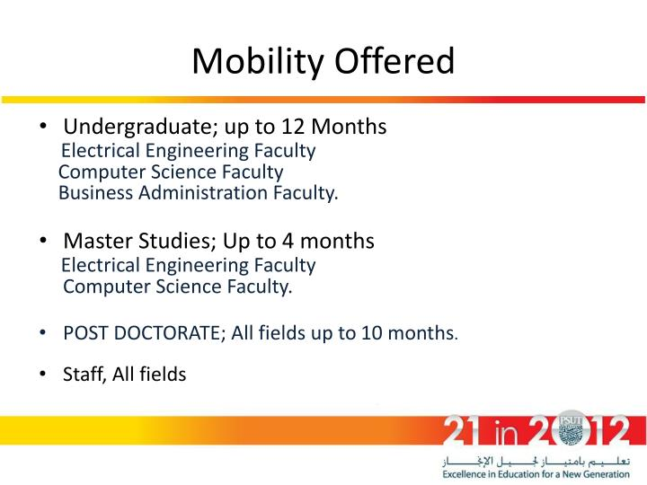 Mobility Offered
