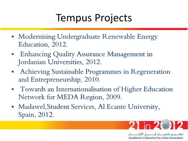 Tempus Projects