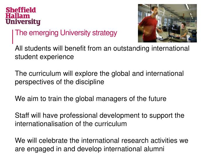 The emerging University strategy