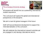 the emerging university strategy