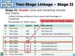 two stage linkage stage ii3