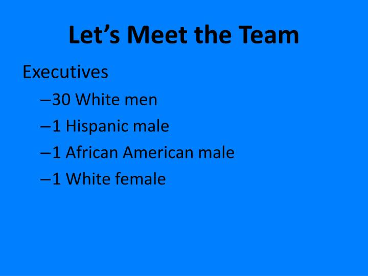 Let's Meet the Team