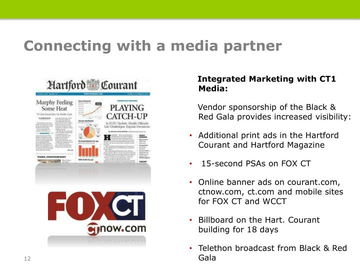 Connecting with a media partner