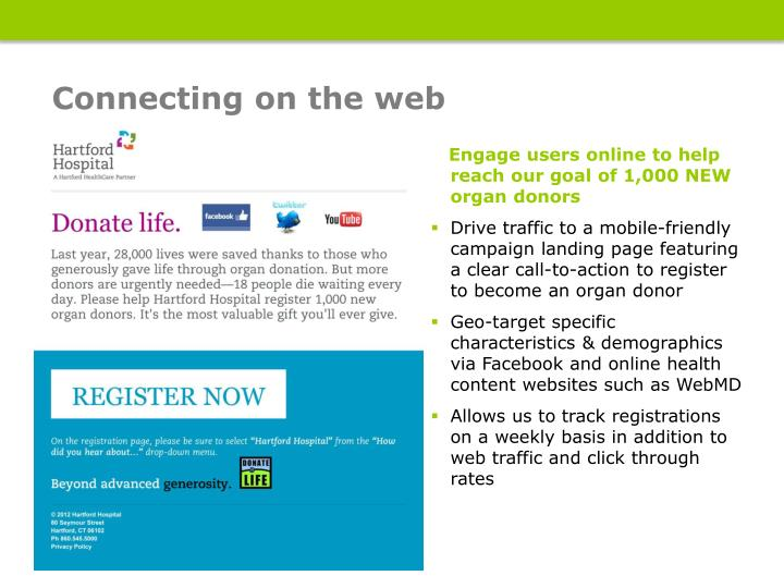 Connecting on the web