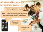 all information services for business events