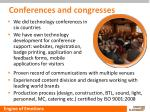 conferences and congresses