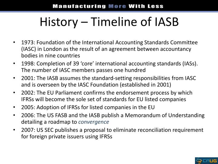 history and role of iasb The history and structure of iasb print reference this  disclaimer: this work has been submitted by a student this is not an example of the work written by our professional academic writers you can view samples of our professional work here.