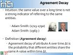 agreement decay