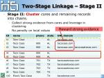 two stage linkage stage ii1