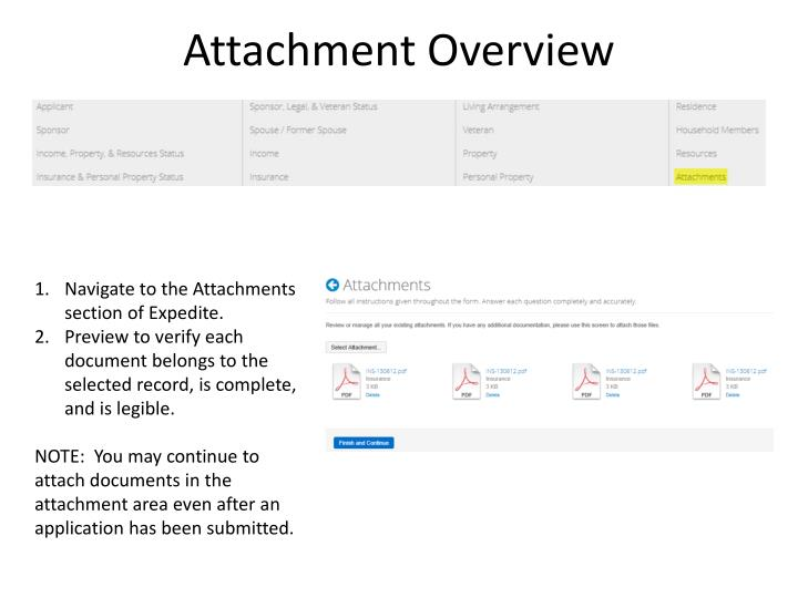 Attachment Overview