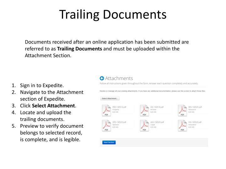 Trailing Documents