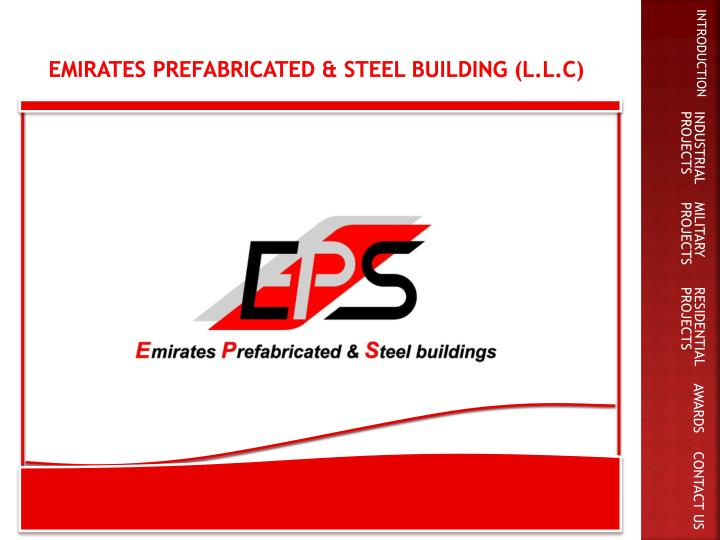 Emirates prefabricated steel building l l c