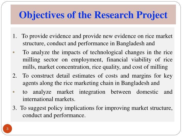 Objectives of the Research Project