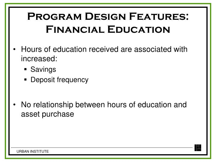 Program Design Features: