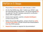 fafsa in 5 steps