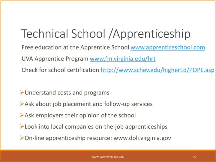 Technical School /Apprenticeship