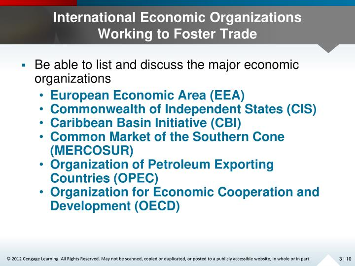 International Economic Organizations