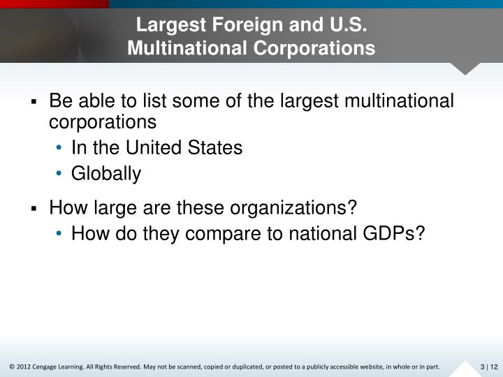 Largest Foreign and U.S.