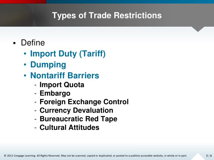 Types of Trade Restrictions