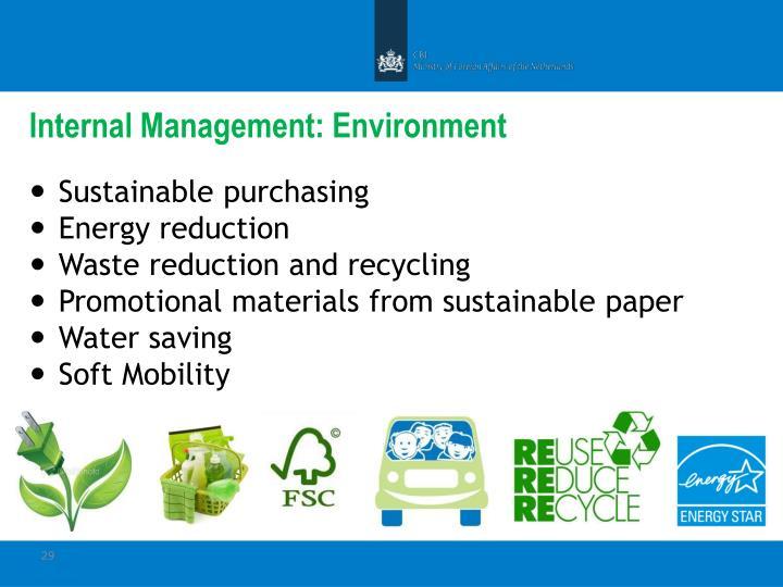 Internal Management: Environment