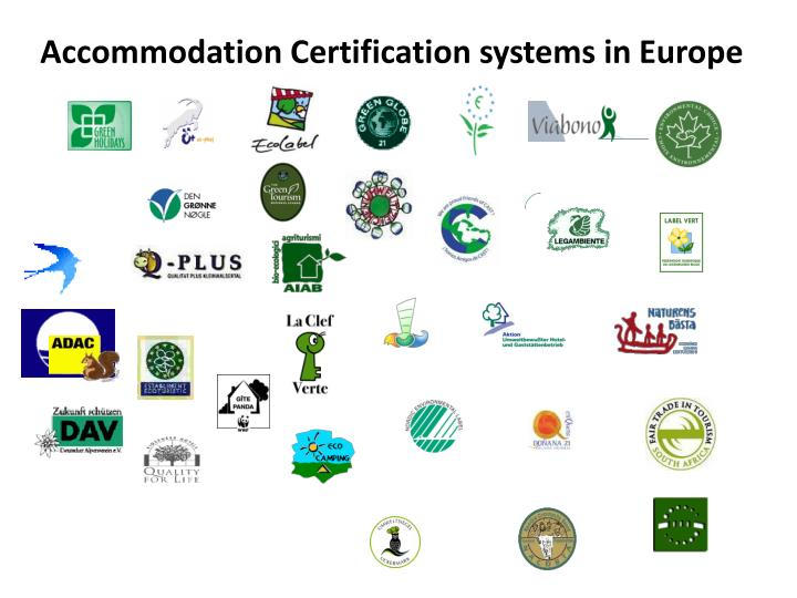 Accommodation Certification systems in Europe