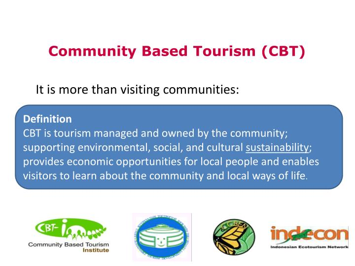 It is more than visiting communities: