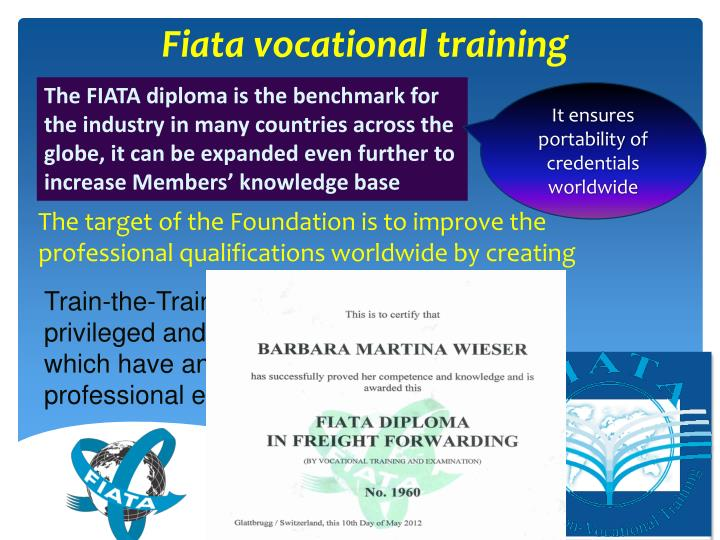 The FIATA diploma is the benchmark for the industry in many countries across the globe, it can be expanded even further to increase Members' knowledge base