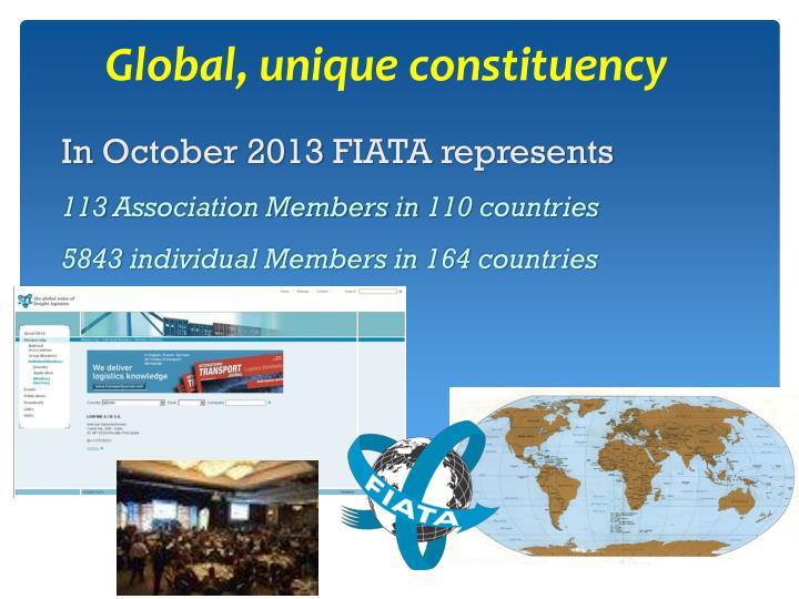 Global, unique constituency