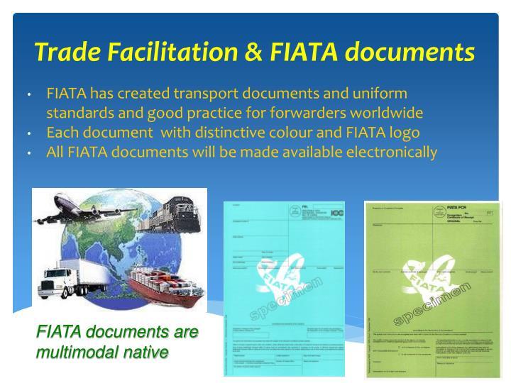 Trade Facilitation & FIATA documents