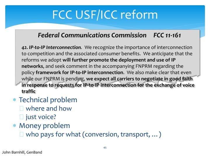 FCC USF/ICC reform