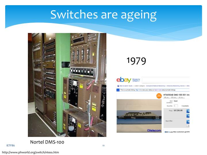 Switches are ageing