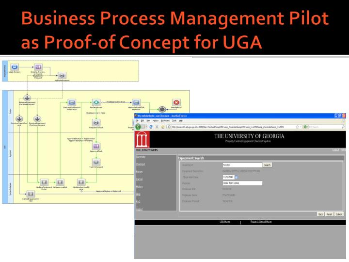 Business Process Management Pilot as Proof-of Concept for UGA